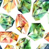 Akwarela malujący diamenty Zdjęcia Stock