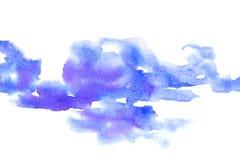 Akwarela maluje kolorowego chełbotanie na białego papieru teksturze Zdjęcie Stock
