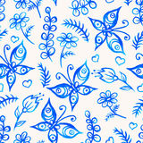 Akwarela motyle ilustracja wektor