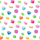 Akwarela multicolor guzika bezszwowy wzór Zdjęcie Stock
