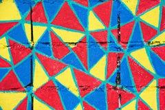 Akwarela na starych betonowych chodniczków parkach wzdłuż kanału w Bangkok Tajlandia grunge sztuki ściany miastowej sztuce retro  Obrazy Royalty Free