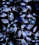 Akwarela neonowy kwiecisty wzór Zdjęcie Stock