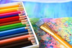 akwarela ołówki Fotografia Stock