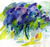 Akwarela obrazu wiosny lili kwiaty ilustracja wektor