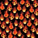 Akwarela ogienia płomienie ilustracji