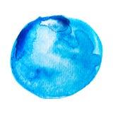 Akwarela okrąg odizolowywający na bielu Obraz Royalty Free