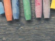 Akwarela pastele na drewnie obraz stock