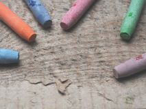 Akwarela pastele na drewnie obrazy stock