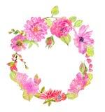 Akwarela piękny kwiecisty projekt Fotografia Royalty Free