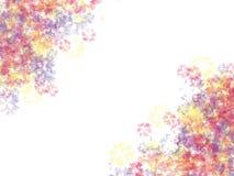 Akwarela plami imitację Aquarelle na białym papierze Fotografia Stock