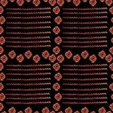 Akwarela plemienny bezszwowy wzór Geometryczni boho elementy ilustracja wektor