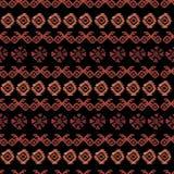 Akwarela plemienny bezszwowy wzór Geometryczni boho elementy royalty ilustracja