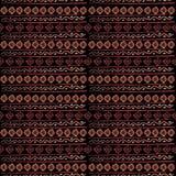 Akwarela plemienny bezszwowy wzór Geometryczni boho elementy Fotografia Royalty Free