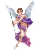 Akwarela pojedynczego charakteru charakteru mistyczny mityczny anioł odizolowywający Fotografia Stock