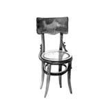 Akwarela rocznika meble, stary krzesło odizolowywający na bielu Obrazy Royalty Free