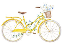 Akwarela roweru bicykl Zdjęcie Royalty Free