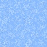 Akwarela rysunek bezszwowy wzór na morskim temacie na zodiaka znaku i, nowotwór, homar, rzeczny rakowy, rozgwiazda, detai Zdjęcia Royalty Free