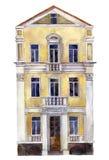 Akwarela rysunku dom Zdjęcia Stock
