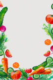 Akwarela skład z warzywami ilustracyjnymi Zdjęcie Stock