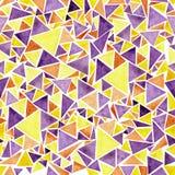 Akwarela trójbok rozpraszający wzór Ilustracji
