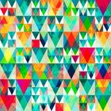 Akwarela trójboka bezszwowy wzór z grunge skutkiem Zdjęcie Royalty Free