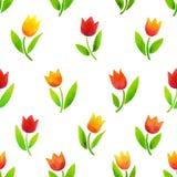 Akwarela tulipanów wzór Obrazy Stock