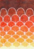 Akwarela waży gradientu wzór Fotografia Royalty Free
