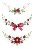Akwarela wianków bajecznie liście i gałąź odizolowywający na białym tle Obraz Royalty Free