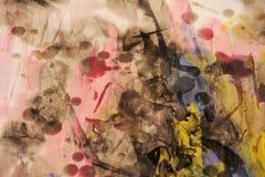 Akwarela, wosk, uderzenia muśnięcie, abstrakcjonistyczny tło Obrazy Stock