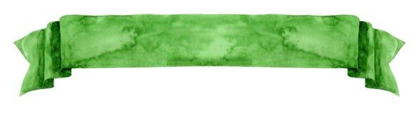 Akwarela zielony sztandar Obraz Stock