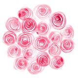 Akwarele malować róże Zdjęcia Stock