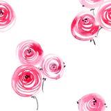Akwarele malować róże Zdjęcia Royalty Free