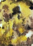 Akwareli żółtego brązu tło ilustracja wektor
