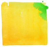 Akwareli żółty tło Zdjęcie Royalty Free