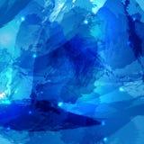 Akwareli abstrakcjonistycznego Wektorowego tła wielorybi błękitny abstrakt ilustracja wektor