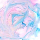Akwareli abstrakcjonistyczny błękit, menchie i biel, barwimy Zdjęcia Stock