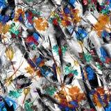 Akwareli abstrakcjonistyczny bezszwowy tło, karta, wzór, punkt, pluśnięcie farba, kleks, rozwód Abstrakcjonistyczna kwiat sylwetk ilustracji