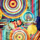 Akwareli abstrakcjonistyczny geometryczny tło Obraz Stock