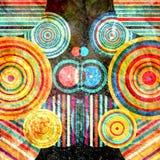 Akwareli abstrakcjonistyczny geometryczny tło Obraz Royalty Free