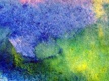 Akwareli abstrakcjonistyczny jaskrawy kolorowy textural tło handmade Obraz niebo i chmury podczas zmierzchu Nowożytny wzór ilustracji