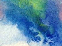 Akwareli abstrakcjonistyczny jaskrawy kolorowy textural tło handmade Obraz niebo i chmury podczas zmierzchu Nowożytny wzór royalty ilustracja