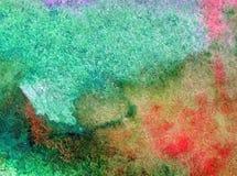 Akwareli abstrakcjonistyczny jaskrawy kolorowy textural tło handmade Obraz niebo i chmury podczas zmierzchu Nowożytny wzór ilustracja wektor