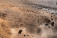 Akwareli abstrakcjonistyczny sepiowy tło Obraz Royalty Free