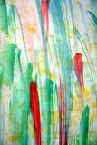 Akwareli abstrakcjonistyczny tło w żółtych czerwieni zieleni odcieniach Obrazy Stock