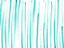 Akwareli abstrakcjonistyczny t?o z turkusowymi liniami ilustracji