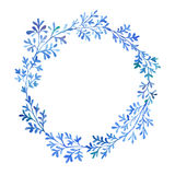 Akwareli błękita flory Obraz Stock