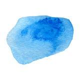 Akwareli błękitny tło odizolowywający na bielu Zdjęcie Stock