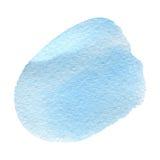 Akwareli błękitny tło odizolowywający na bielu Obrazy Royalty Free