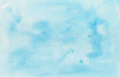 Akwareli błękitny tło, tekstura papier Obrazy Royalty Free