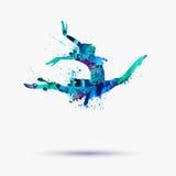 Akwareli balerina (dziewczyny gimnastyczka) royalty ilustracja